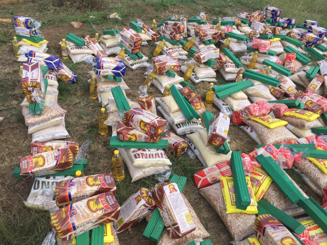 Many bags of food & soap