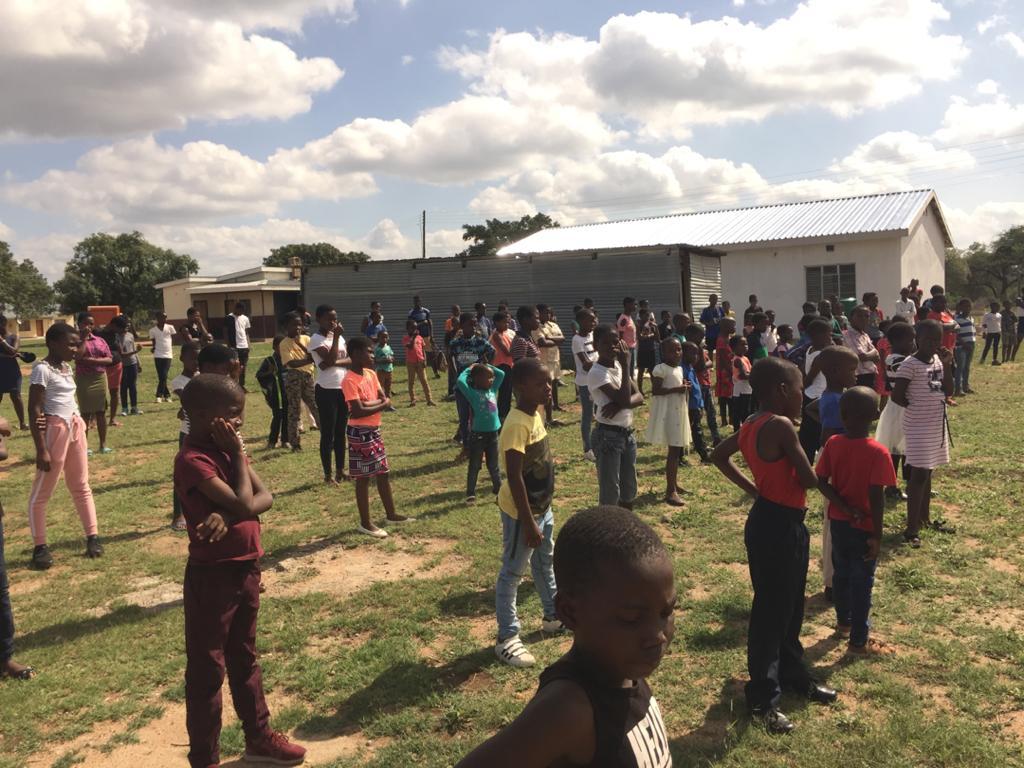 Crowd awaits at Emnotfweni while social distancing